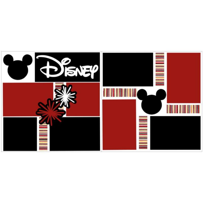 Disney Black Red White