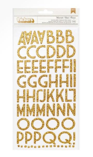 Wisecrack Gold Alphabet Thickers