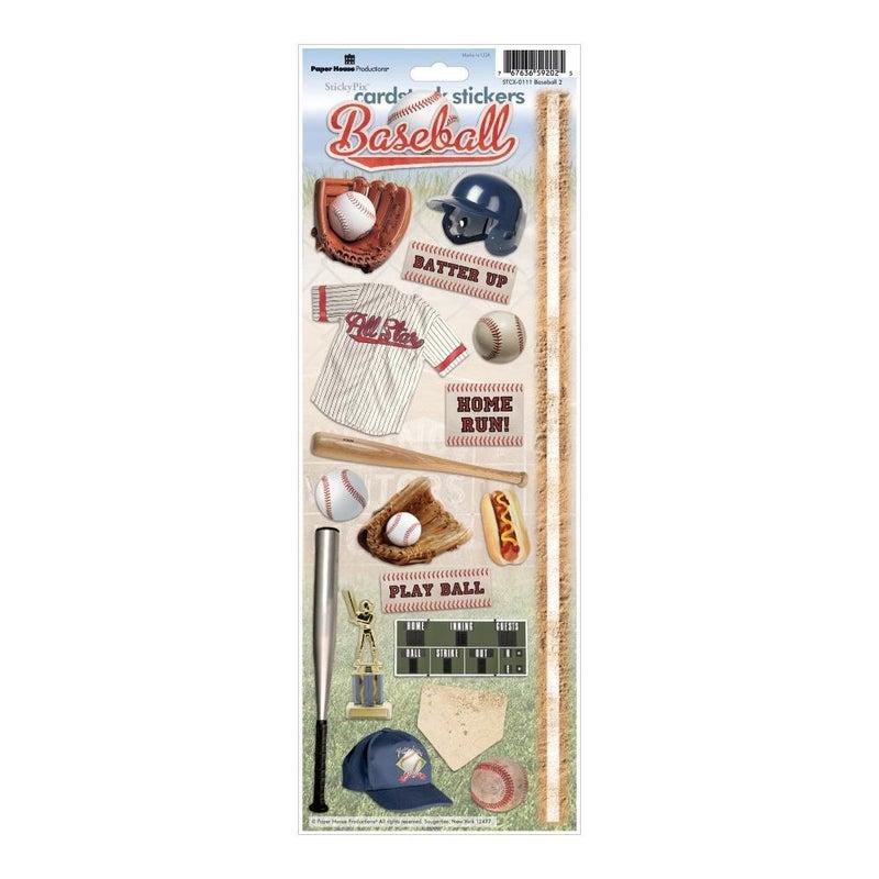 Baseball Cardstock Stickers