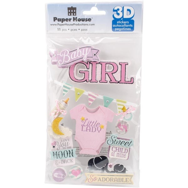 3D Baby Girl Stickers