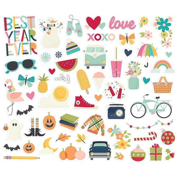 Best Year Ever Bits and Pieces Die Cuts