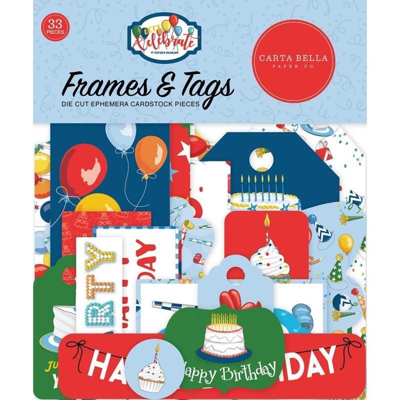 Let's Celebrate Birthday Framed & Tags