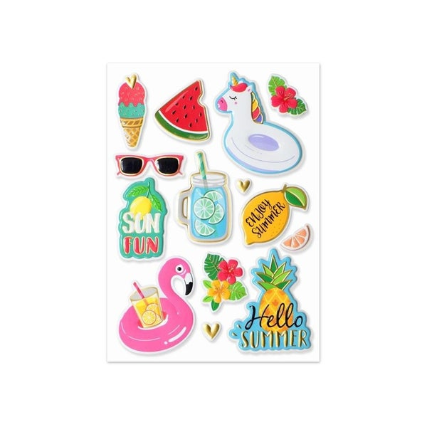 Summer Pop Up Foil Stickers