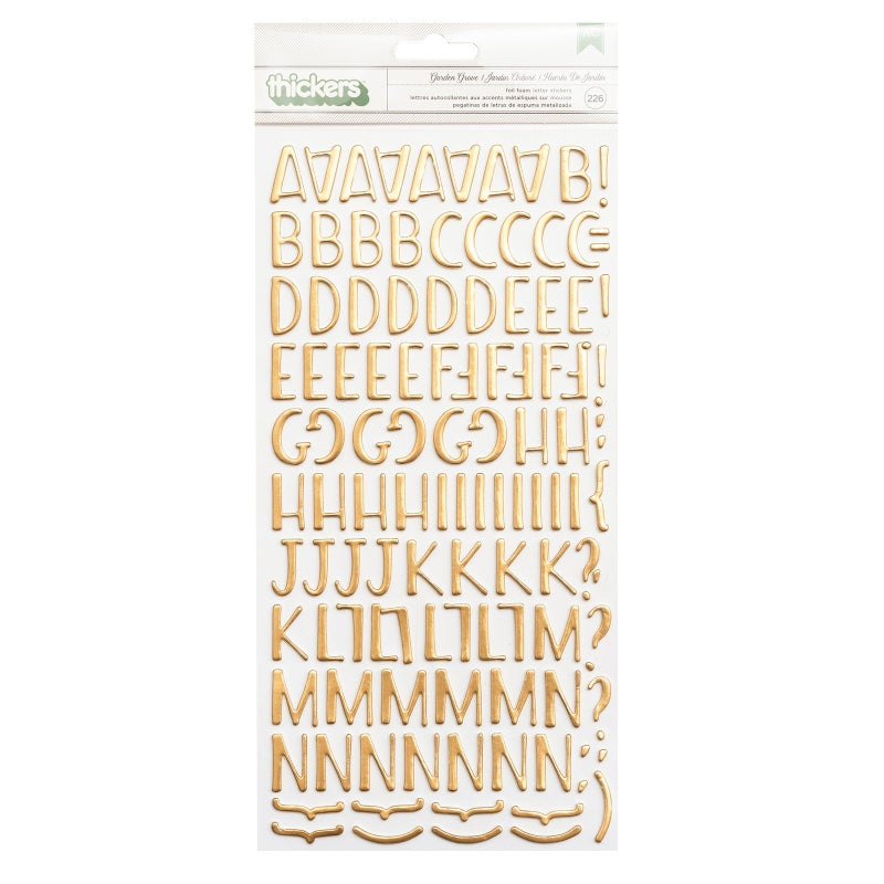Garden Grove Alphabet Thickers
