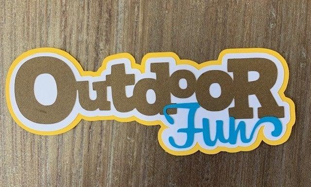 Outdoor Fun Die Cut Size 5 x 1 3/4