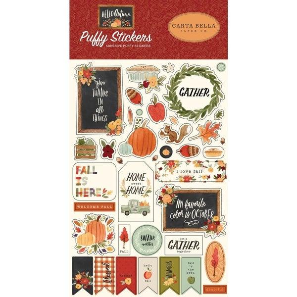 Hello Autumn Puffy Stickers