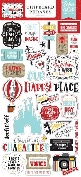 A Magical Place Disney Chipboard Phrases