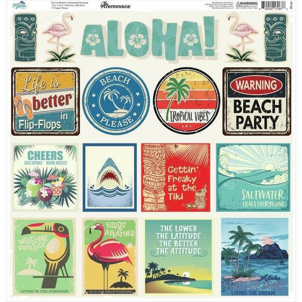 Vintage Paradise 12x12 Sticker Sheet