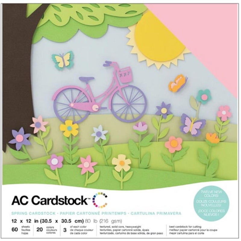 American Crafts Spring Cardstock Pack 60 Qty