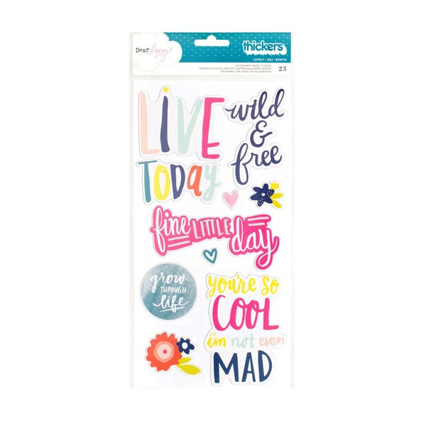 Lovely Chipboard Phrase Thickers