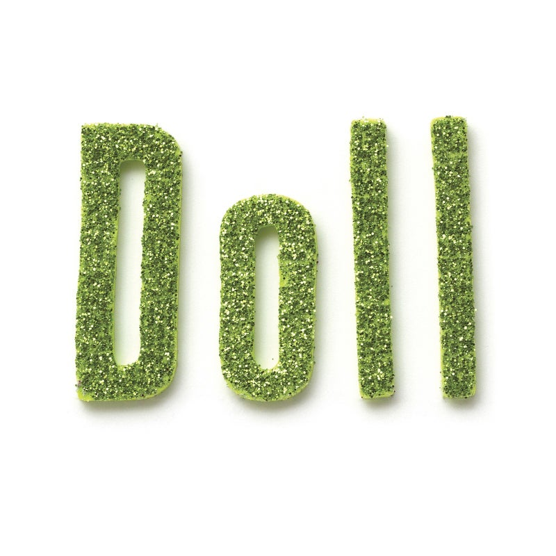 Doll Glitter Alphabet Thickers