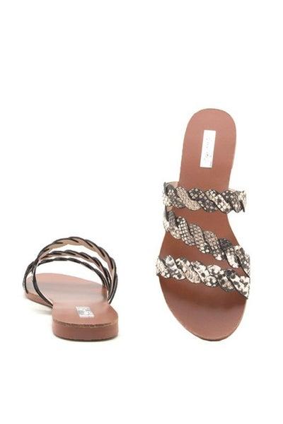 Britt Snake Flat Sandal