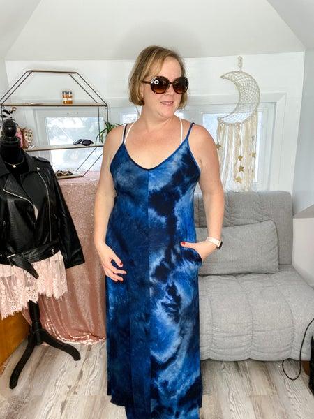 Celestial Tie Dye Maxi Dress