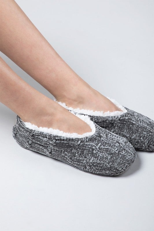 Slip Right in Slippers Heather Grey