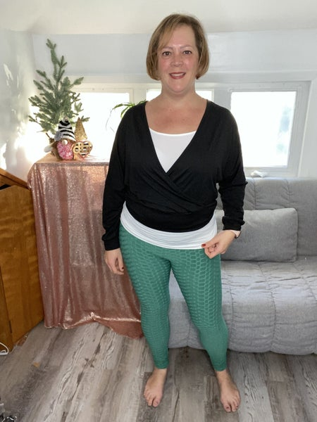 Textured Leggings with Elastic Waist band