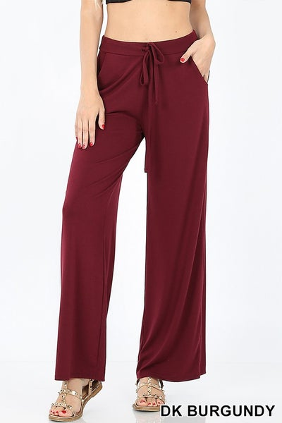 Lounging Around Pants - Dark Burgundy