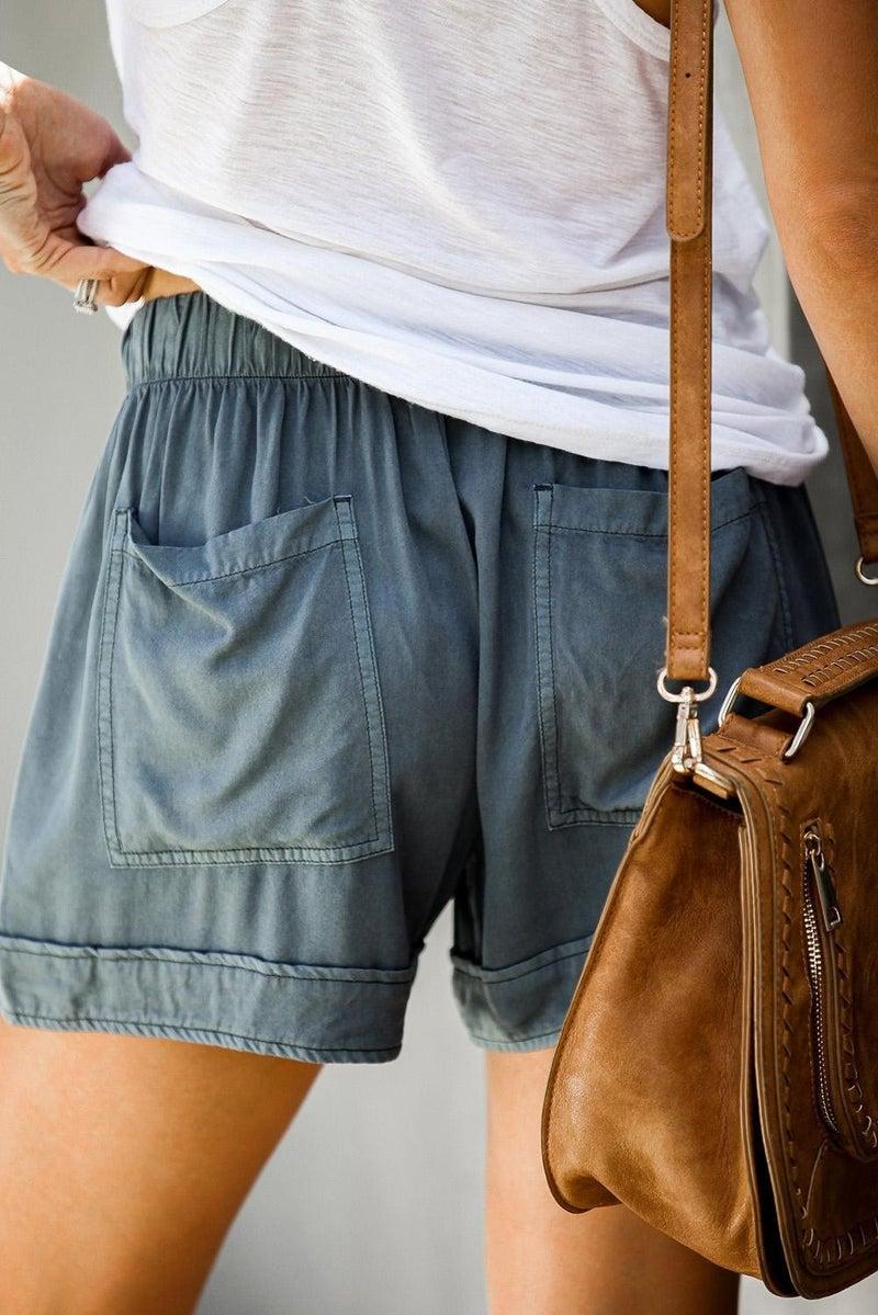 Summer Break Shorts - Dusty Blue *Final Sale*
