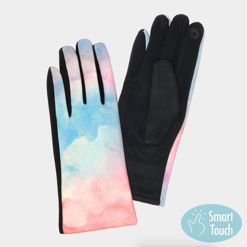Tie Dye Smart Touch Gloves