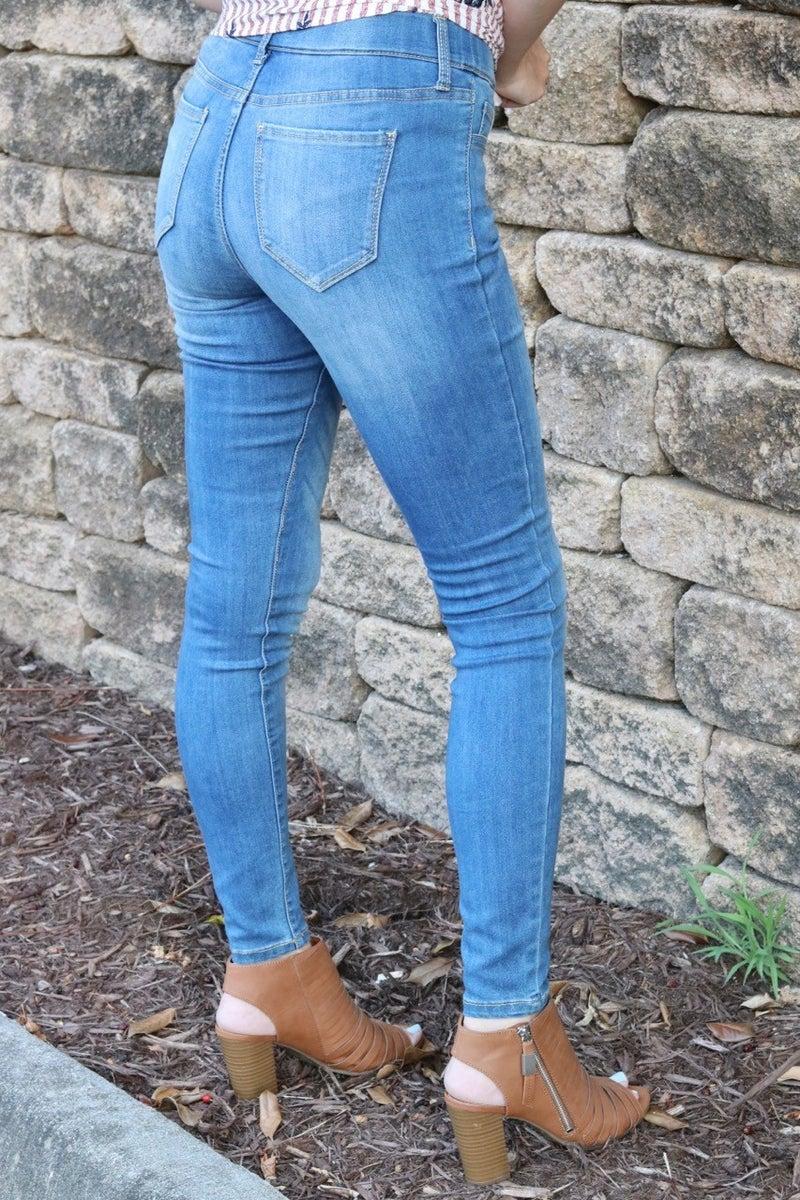 Pull On Skinny Jeans  Medium Denim