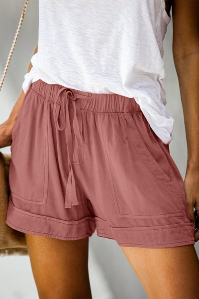 Summer Break Shorts - Dusty Pink