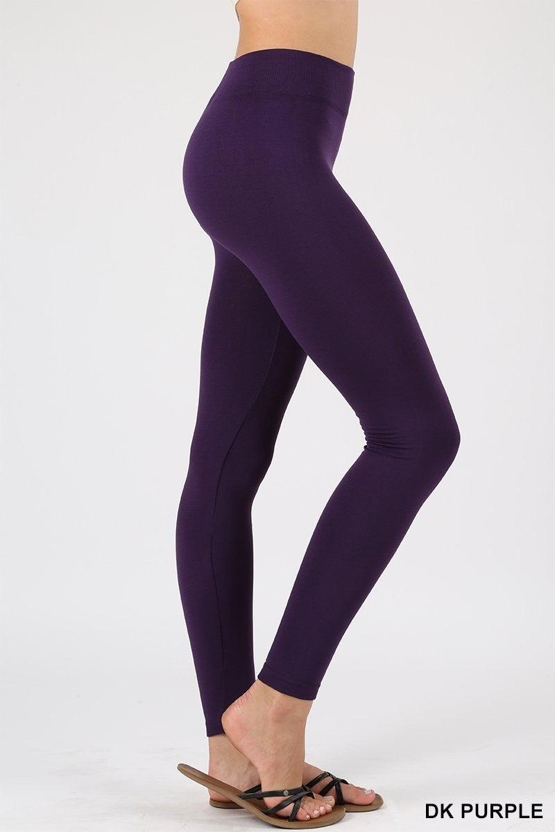 Fleece lined leggings Dark Purple *Final Sale*
