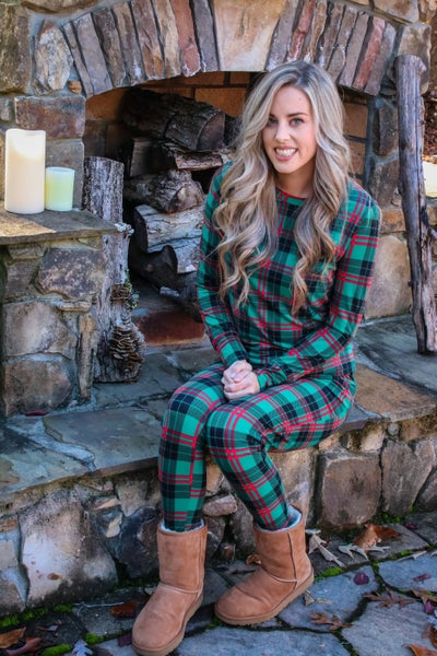 Red and Green Plaid Pajama Set