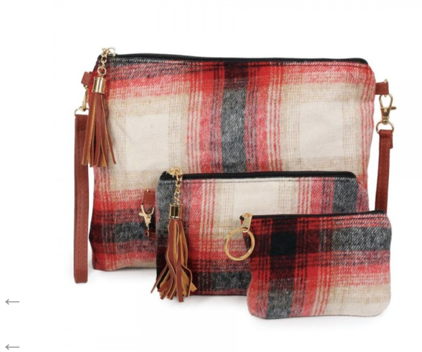 Fleece Plaid Handbag
