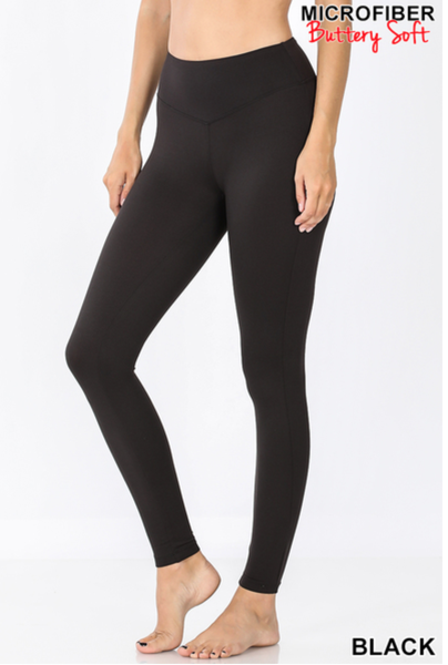 Black Leggings Yoga Waistband