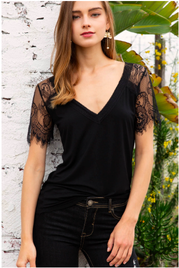 The Date Night Top Black