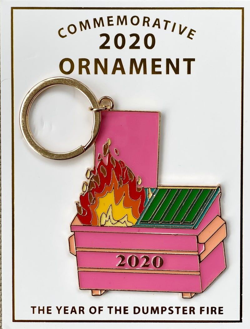 Dumpster Fire Keychain  (Ornaments Sold Out)