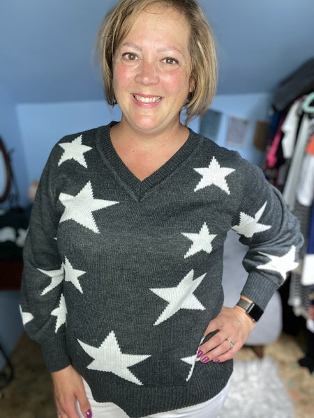 Shoot for the Stars Sweater - Charcoal
