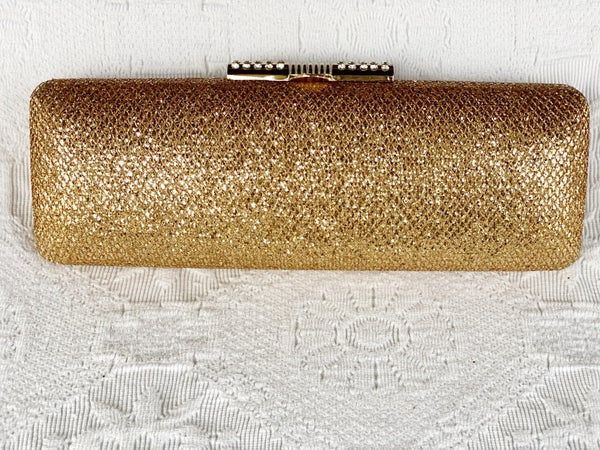 Evening Bags Long Gold Glitter