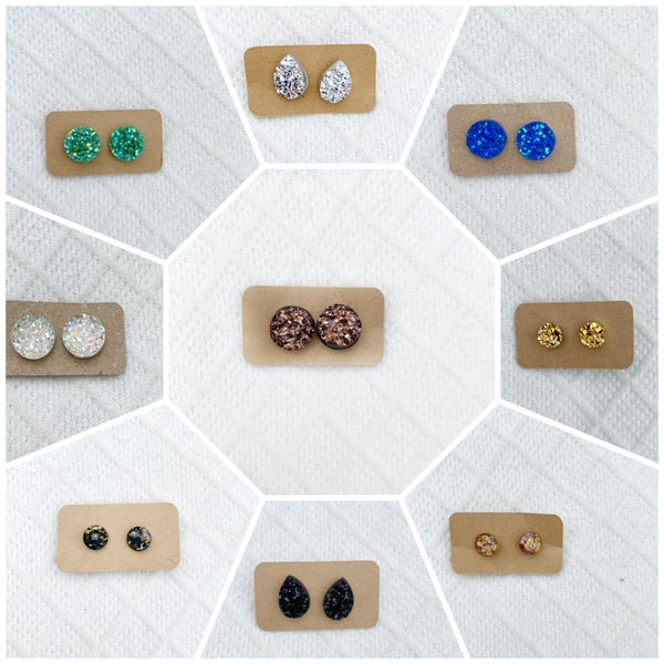 Post Earrings - Variety of Colors