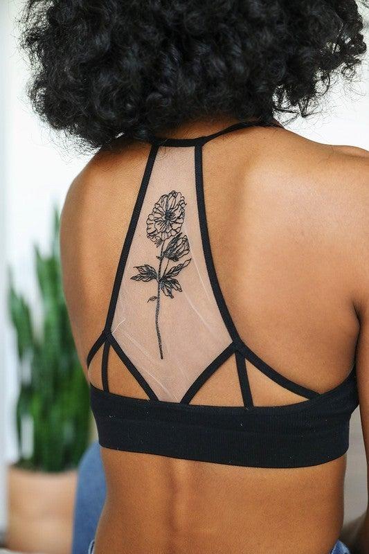 Flower Bloom Tattoo Bralette