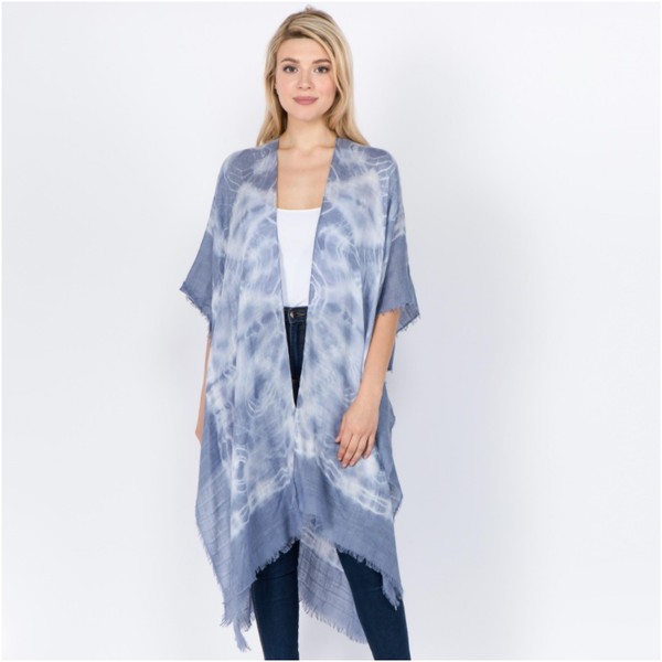 Tie Dye Blue Kimono