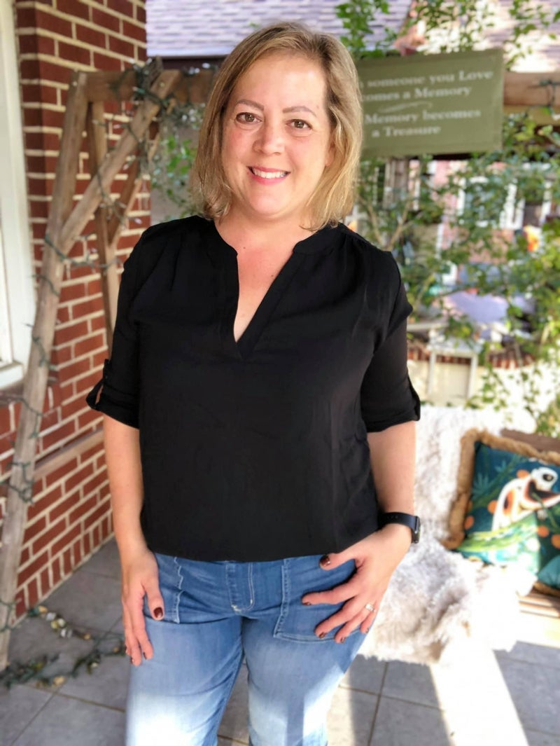 The Perfect Touch Blouse - Black