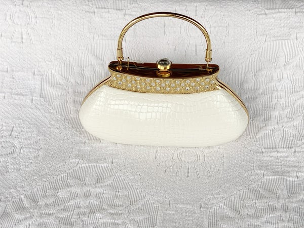 Evening Bags Ivory and Gold