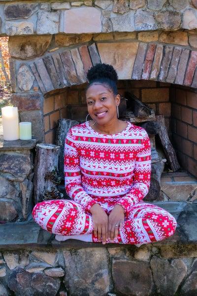 Fair Isle Reindeer Pajama Set