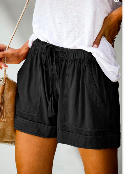 Summer Break Shorts - Black