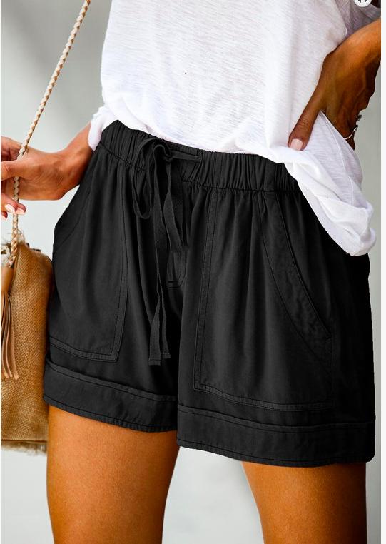 Summer Break Shorts - Black