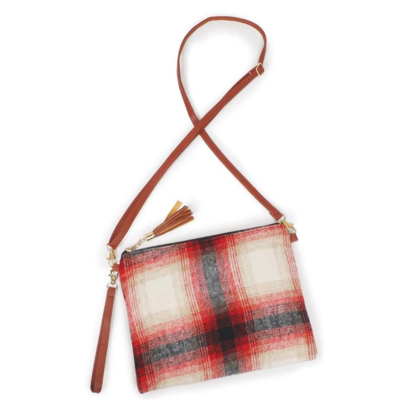 Fleece Plaid Handbag