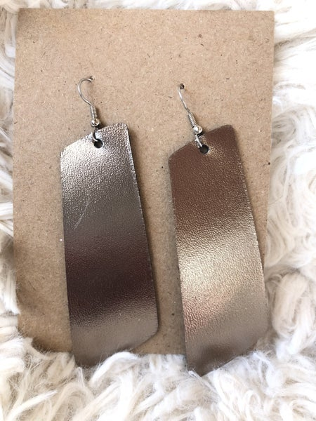 Sleek and Chic  Leather Earrings