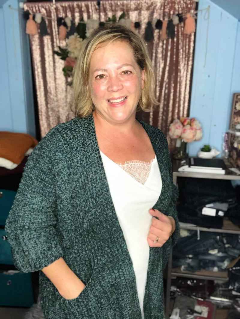 Cable Knit Slouch Cardigan