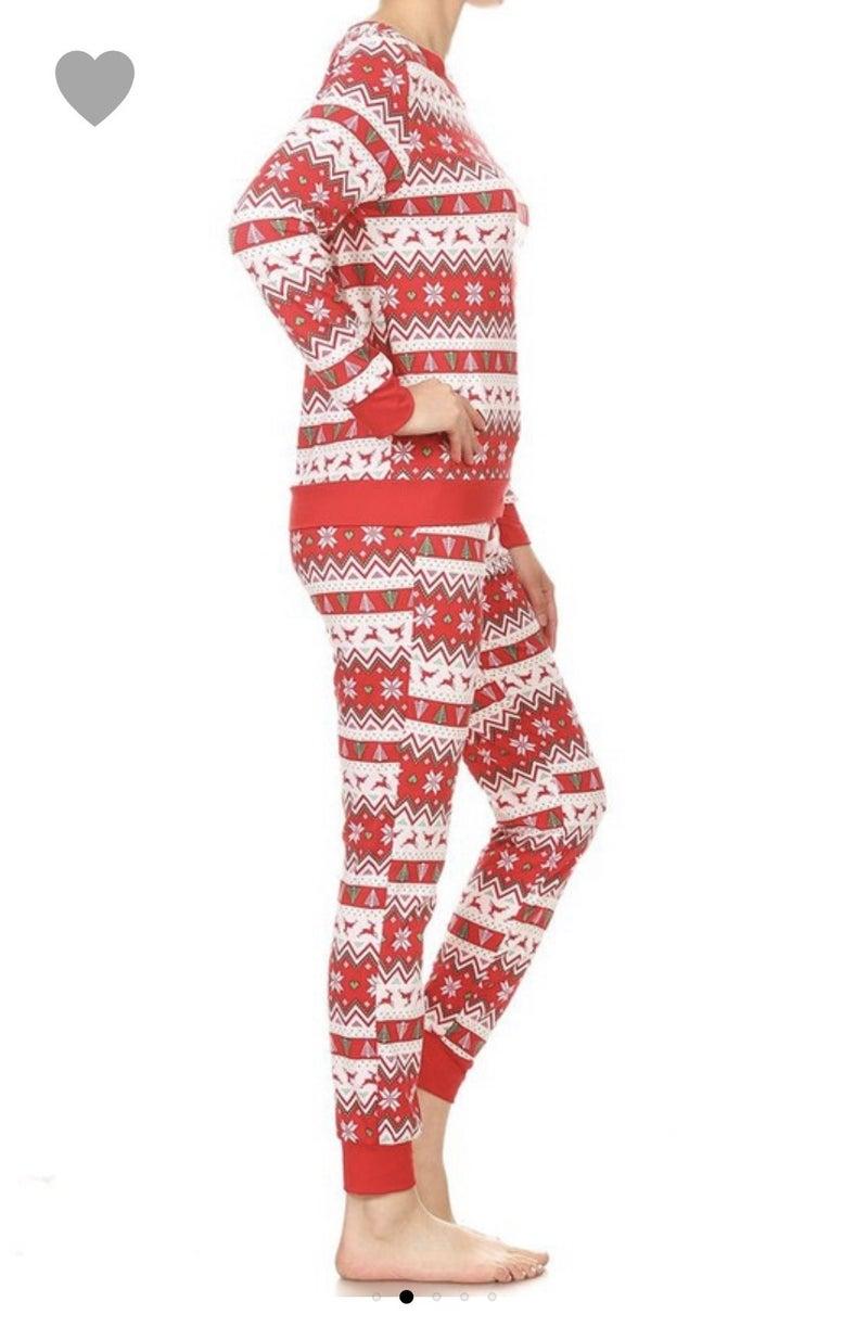 Fair Isle Reindeer Pajama Set *Final Sale*