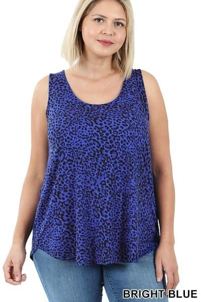 Round Neck and Hem Tank Plus