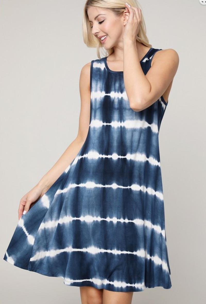 Who Runs the World Tie Dye Dress