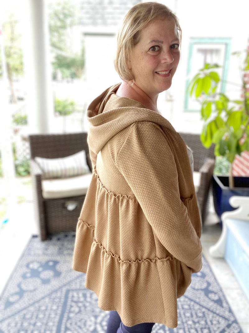 Tiered Cardigan Taupe