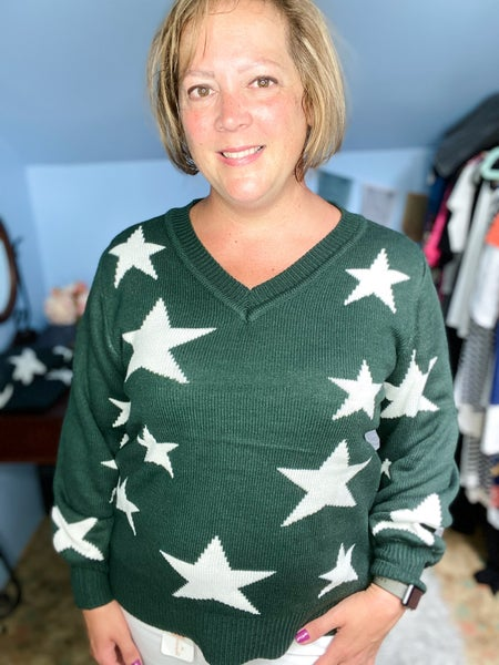 Shoot for the Stars Sweater - Hunter Green