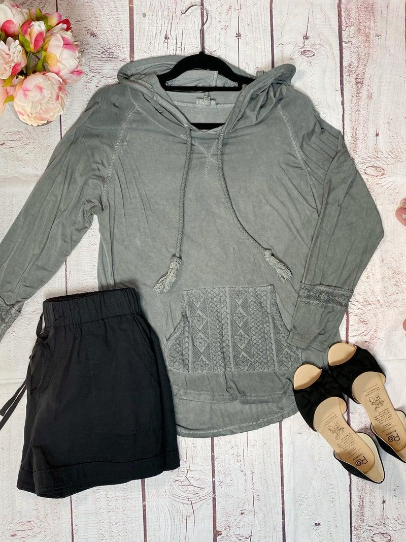 Crochet Pocket Hoodie