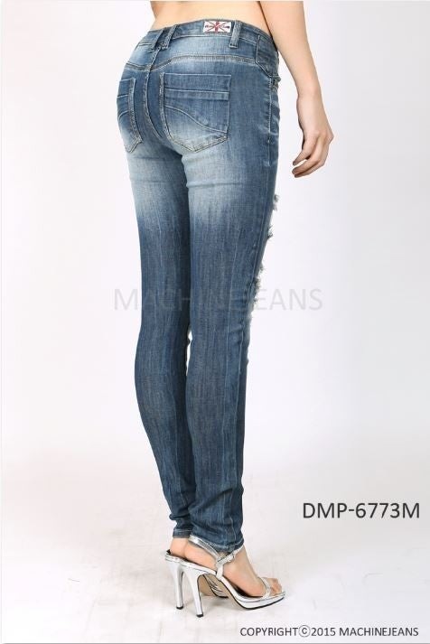 Machine Jeans DESTROYED SKINNY JEANS WITH COIN POCKET